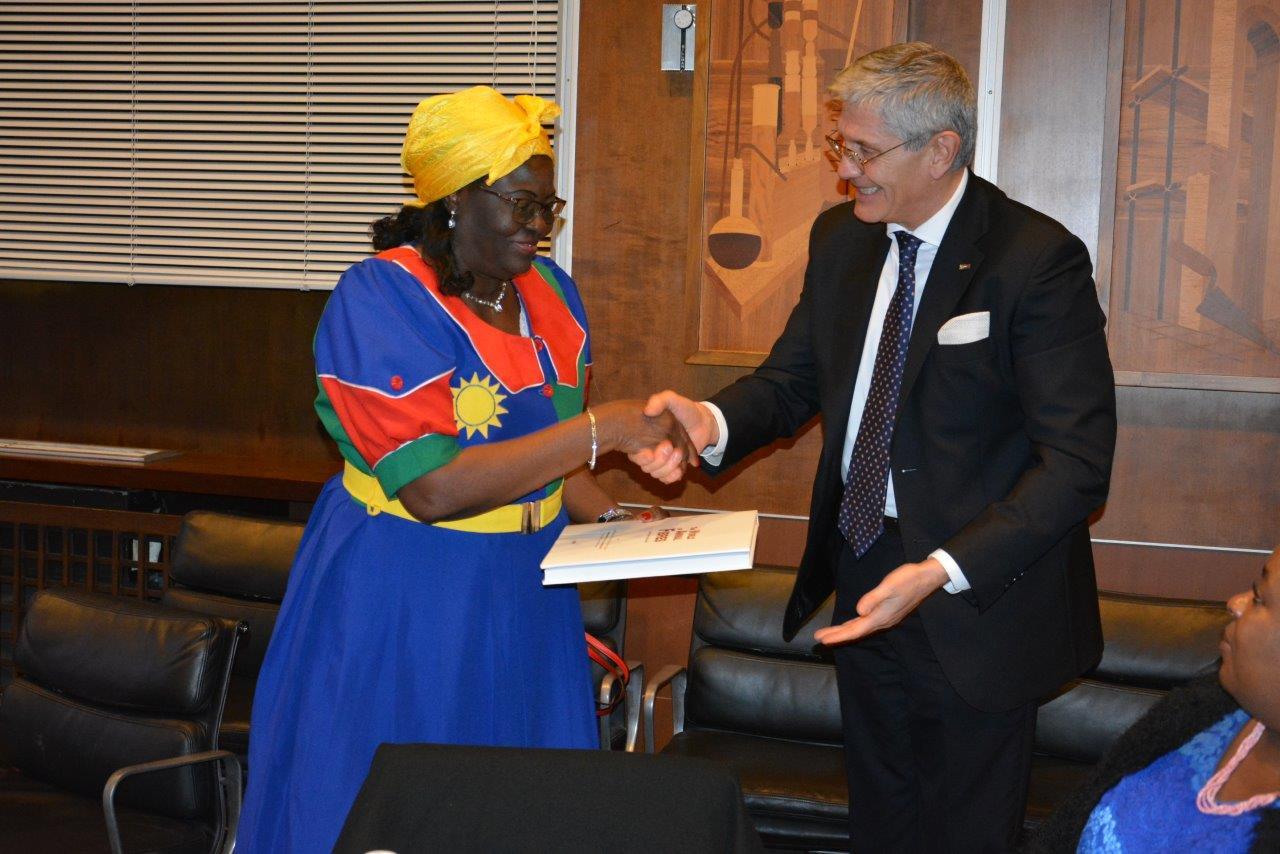 Incontro con la delegazione della Namibia